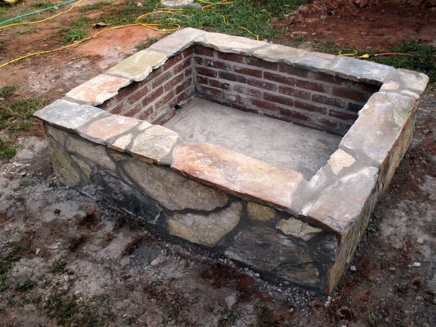Square Stone Fire Pit