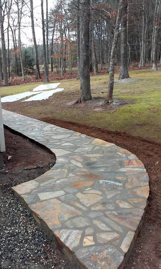 Slate Entry Steps And Walkway Nc Sc Masonry Contractor
